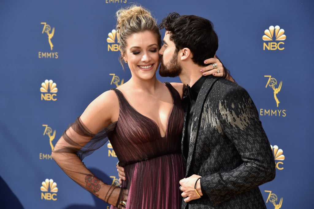 "Darren Criss had a big night at the Emmys, and he had his best girl by his side for the whole thing. On Monday night, the American Crime Story actor attended the award show with his fiancée, Mia Swier, and their sweet appearance practically gave us a toothache. In addition to showing off their love on the red carpet, Darren gave an adorable shout-out to Mia during his acceptance speech for lead actor in a limited series or movie. ""You roll the windows down and you pump the music up in my life,"" he said. See more photos from their night ahead.       Related:                                                                                                           These Celebrity Couples Showed Up and Showed Out at the Emmys"