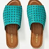 Klub Nico Woven Leather Slide Sandals