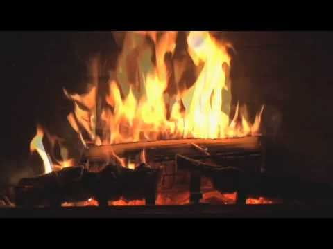 Fireplace With Christmas Carols