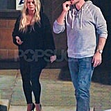 Pregnant Jessica Simpson with Eric in Palm Springs.