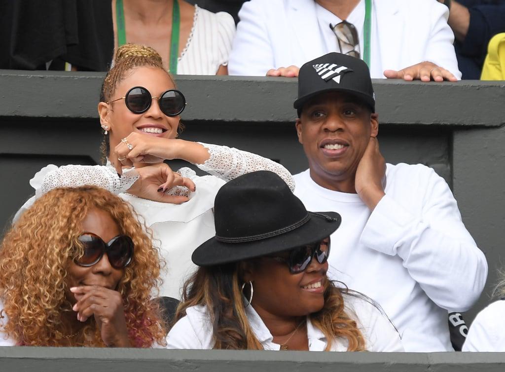 Beyonce and Jay Z at Wimbledon July 2016