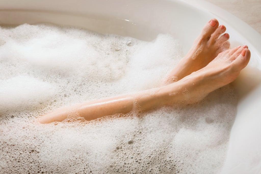 Take a soothing bath.