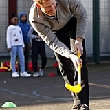 Harry Showed Off His Hockey Skills With Kids