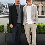 Leonardo DiCaprio and Brad Pitt at the London photocall of Once Upon a Time in Hollywood.
