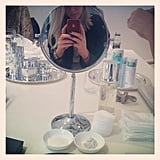 Beauty school drop out... Alison at La Prairie's beauty school event.