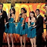 How cute are The Emmingtons? Zachary Levi, Cobie Smulders, Taraji P. Henson, Kate Flannery, Wilmer Valderrama, and Joel McHale lent their vocal stylings to the show.