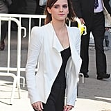 Emma Watson stopped by the Late Show in NYC.
