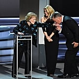 Betty White, Kate McKinnon, and Alec Baldwin at the 2018 Emmy Awards