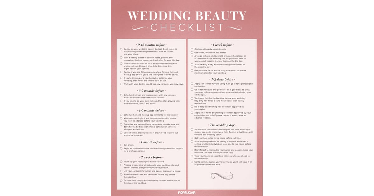 Download the Ultimate Wedding Beauty Planning Checklist ...