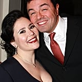 The Duo Pose Backstage at a Benefit For the Writers Guild East Strike Fund in January 2008