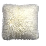 ROSE FEATHER Real 100% Tibetan Mongolian Lamb Sheepskin Wool Fur Super Soft Plush Leather Pillowcase