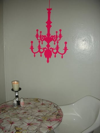 Before and After: My Chandelier Decal Wall
