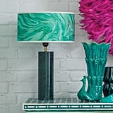 Graham and Green Walter Natural Green Marble Table Lamp