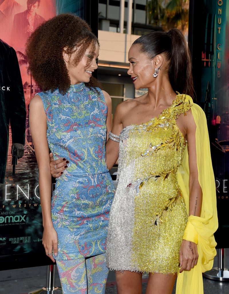 Nico Parker is following in mother Thandiwe Newton's footsteps. On Tuesday, the 16-year-old actress attended the premiere of her new film Reminiscence, which she stars in alongside her famous mom. The mother-daughter duo looked absolutely adorable as they hit the red carpet in sparkling Versace minidresses. The two looked super excited as they flashed huge smiles and hugged for the cameras. While Nico is no stranger to acting, having previously made her debut in 2019's Dumbo, this film is extra special as it marks her first with her mom. We certainly can't wait to see what Nico does next! See more pictures from their recent appearance ahead.       Related:                                                                                                           Thandiwe Newton's 3 Kids Are Her Minis — Get to Know the Whole Family!