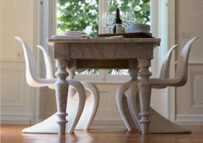 Love It Or Hate It Modern Chairs With A Traditional Dining Table - Traditional dining table with contemporary chairs