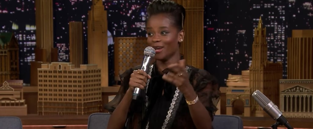 Letitia Wright Raps on The Tonight Show With Jimmy Fallon