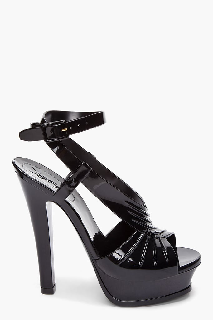 Now is your chance to own a pair of YSL Tributes at a fraction of the original price.  Yves Saint Laurent Rubber Tribute Sandals ($248, originally $495)