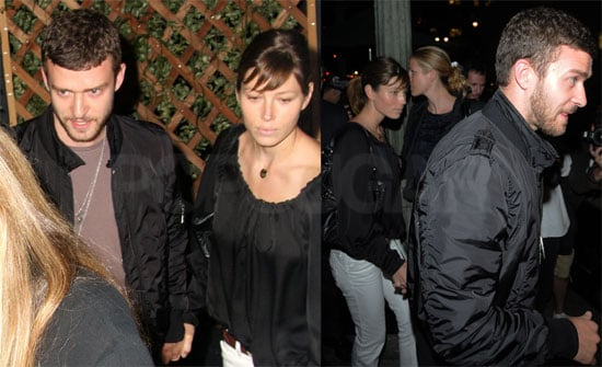 Photos of Justin Timberlake and Jessica Biel Out at Eva Longoria's Beso Restaurant in Hollywood