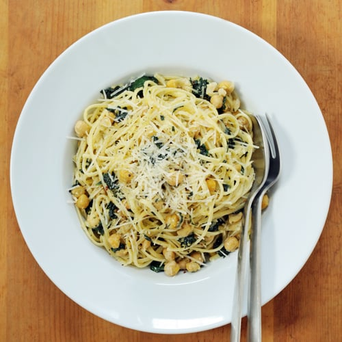 Linguine With Kale and Chickpeas