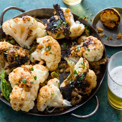 Cauliflower Roast With Anchovy Breadcrumbs Recipe | POPSUGAR Food