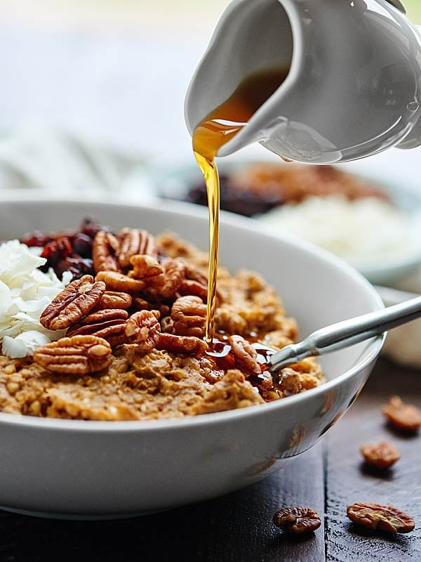 Slow-Cooker Maple Pumpkin Oat and Quinoa Porridge
