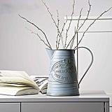 Shabby Chic Large Metal Jug Flower Pitcher Vase
