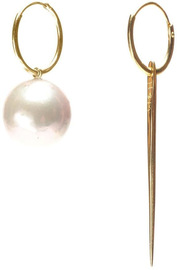 Wouters & Hendrix Gold 18kt Yellow Spike and Pearl Earrings