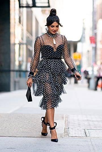 Priyanka Chopra's Sheer Polka-Dot Dress