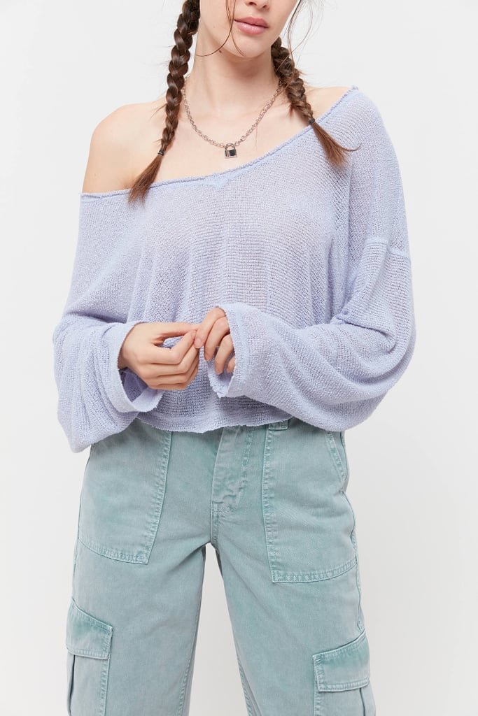 Out From Under Logan Jersey Slouchy V-Neck Top