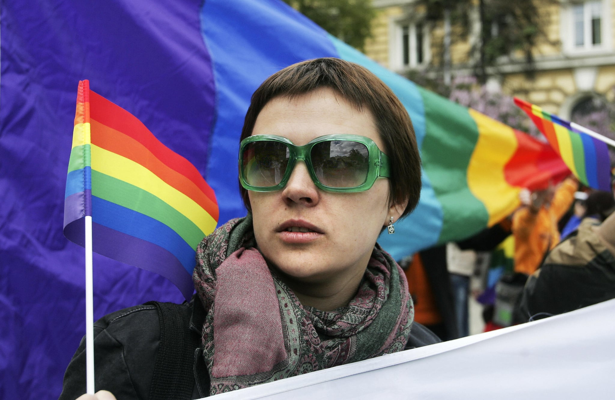 Russian gays defied a ban by city authorities.