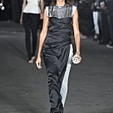 A Staple on the Alexander Wang Runway, Joan Wore a Black and White Gown Over Jeans
