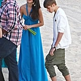 Selena Gomez and Justin Bieber hung out together at a wedding.