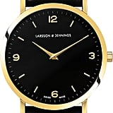 Larsson & Jennings Lugano Gold-Plated and Leather Watch (£215)