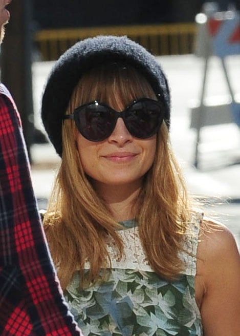 Nicole Richie wore a black hat and sunglasses in LA.