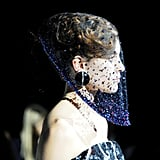 The sequins and jewels on this veil were just as intricate as some of the dresses.