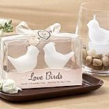 White Love Birds Tea Light Candles
