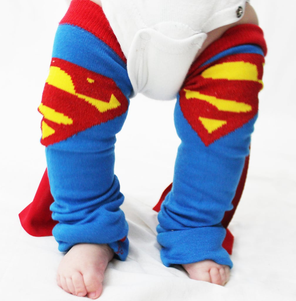 Keep even the smallest superhero's legs warm and cozy in these Superman leg warmers — complete with mini capes ($20).