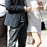 Kate Bosworth hung onto Michael Polish during a visit to Ground Zero in NYC.