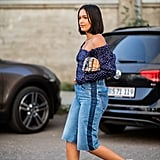 Skip full length jeans in favor of jean shorts, a top you can breathe in, and trusty sneakers.
