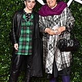 Marine Serre and Suzy Menkes at the British Fashion Awards 2019