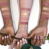Cheek Palette Swatches on Different Skin Tones