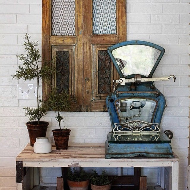 Repurposed Utility Items, Like an Old Scale, Are ...