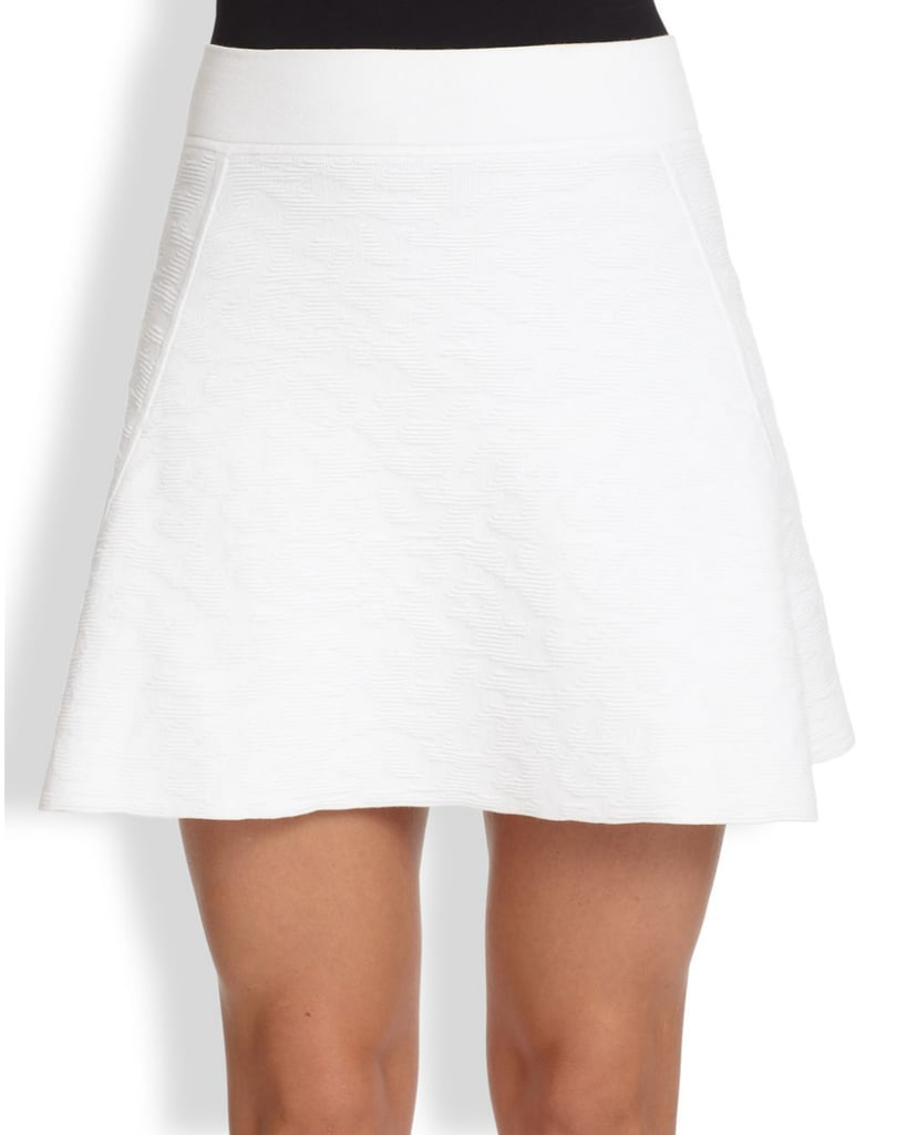 Theory Doreene white skater skirt ($255)