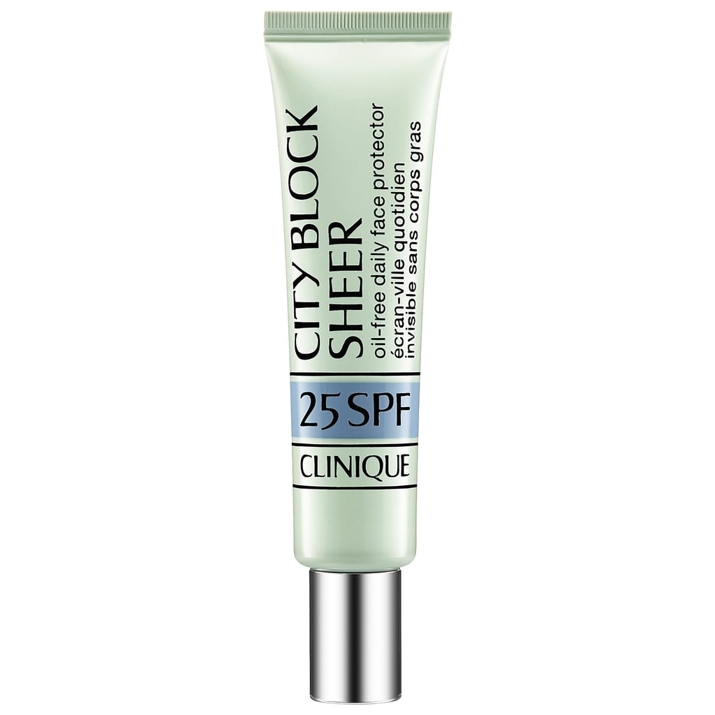 Clinique City Block Sheer Oil-Free Daily Face Protector Broad Spectrum SPF 25 ($24)