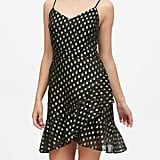 Petite Metallic Dot Mini Dress