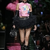 Bella Popped Up on the Moschino Runway in a Faux Pixie Hairstyle and Unicorn Tee