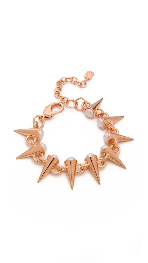 Swarovski Fallon Gold Spike and Pearl Bracelet