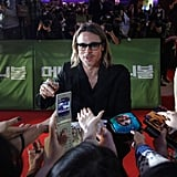 Brad Pitt was in high demand at the Korean Moneyball premiere.