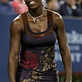 Serena Williams Wearing a Printed Dress at the US Open in 2006