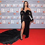 Maya Jama at the 2020 BRIT Awards in London